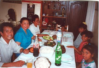 Repas chez Néné en 2000